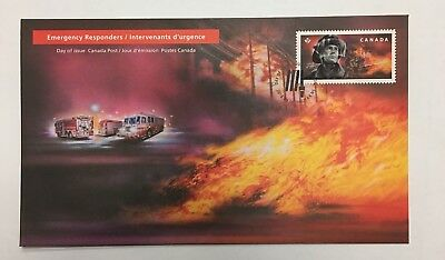 First Responders First Day Cover FIREFIGHTERS