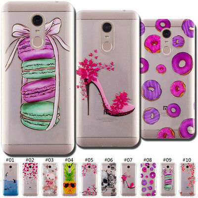 For Xiaomi Redmi 5 Plus Colorful Rubber Silicone Soft Back Cover Retro Case Skin