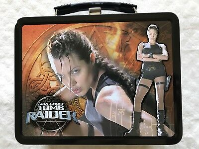 Angelina Jolie Ltd Ed 2001 Lara Croft: Tomb Raider Movie Lunch Box#2 w/thermos