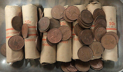 #3. About 4.5  Kilograms  1964 Australian Kangaroo Design Penny Coins, About 470