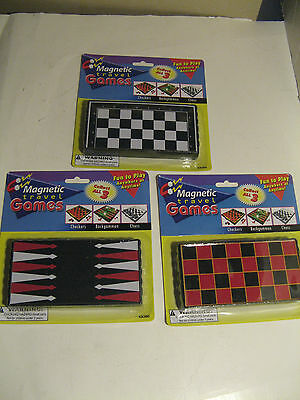 Magnetic Travel Game. Chess, Checkers, Or Backgammon. New.