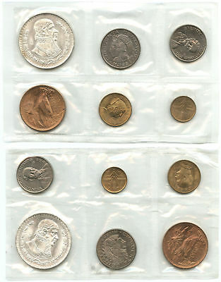 Lot of 2 1964 Mexico Mint Sets in Original Plastic
