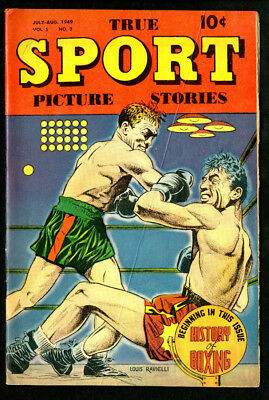 True Sport Picture Stories 1949 History of Boxing Vol. 5 No. 2 - VG-EX