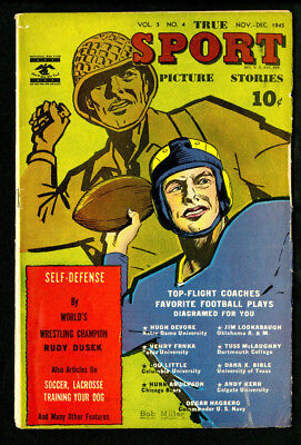 True Sport Picture Stories 1945 Vol. 3 No. 4 - VG+ Beauty!!! Football War Issue