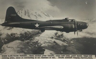 WWII Boeing B-17E Flying Fortress Postcard W J Gray US Military Aviation Aircraf