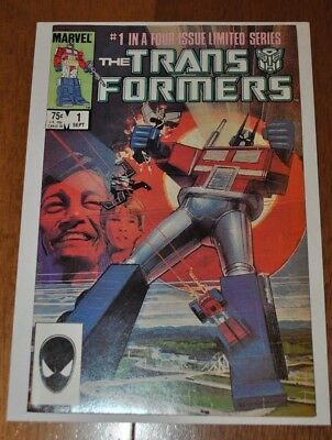 Transformers #1 Marvel Comics NM (9.4) Condition or Better (G1 1984) White Pages