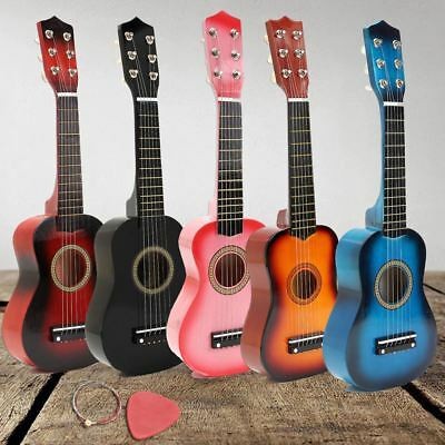 "21"" Acoustic Guitar For Kids Beginners Compact Wood Musical Instrument Gift"