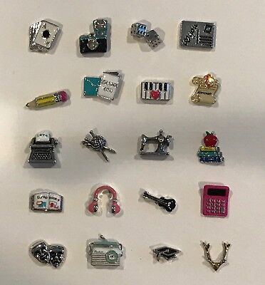 AUTHENTIC RETIRED ORIGAMI OWL CHARMS, GOLD LETTERS & NUMBERS WITH ... | 400x372