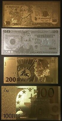 United States/Europe Gold and Silver Notes (Lot of 4)