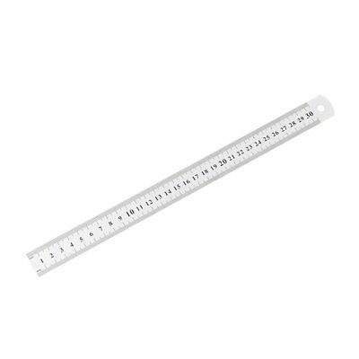 Stainless Steel Metal Ruler 30CM Straight Ruler Double Sided School Stationery