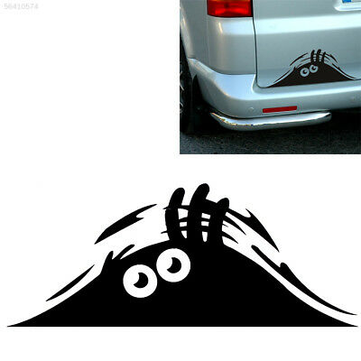 76BF Black Peeking Monster Funny Sticker Vinyl Waterproof Decal For Car Window