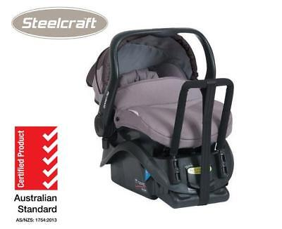 Br New Steelcraft Infant Carrier and Base Baby Capsule Car Shell Peachskin