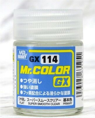 MR HOBBY Color Gunze LACQUER GX114 SUPER SMOOTH CLEAR Paint For Model Kit