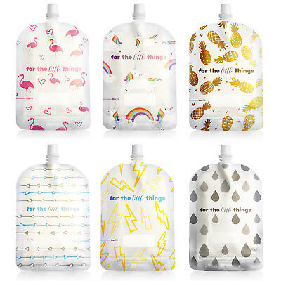NEW! Sinchies 150ml Reusable Food Pouches BPA Free Infant Baby Pouch 1/5/10 Pack