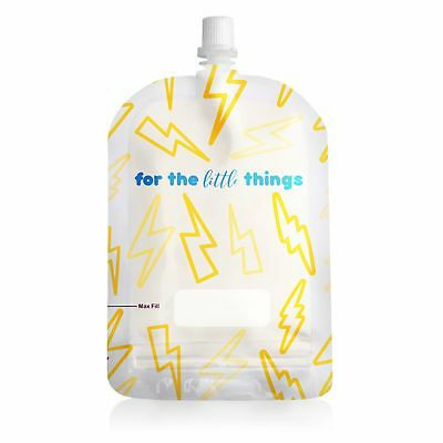 Sinchies 150ml Reusable Food Pouches BPA Free Infant Baby Pouch - Lightning Bolt