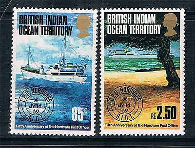 British Indian Ocean Territory 1974 Travelling Post Office SG 56/7 MNH