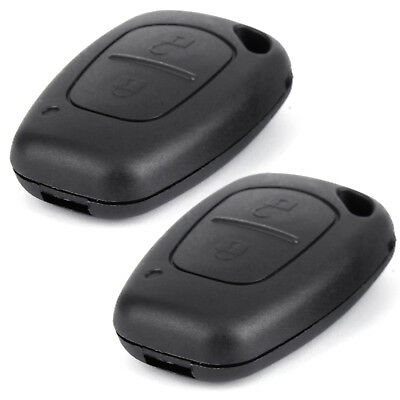 2x For Vauxhall Opel Vivaro Movano Traffic 2 Button Remote Key Fob Case Cover