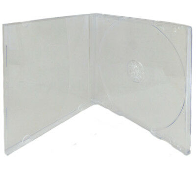 10 Pack Single Standard Clear CD DVD Jewel Case Assembled 10.4mm [FREE SHIPPING]