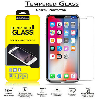 For iPhone Xs Max XR XS X Anti-Scratch 9H Film Tempered Glass Screen Protector