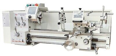 1HP GEARED HEAD Metal Lathe, 240V, 250x500mm with Power