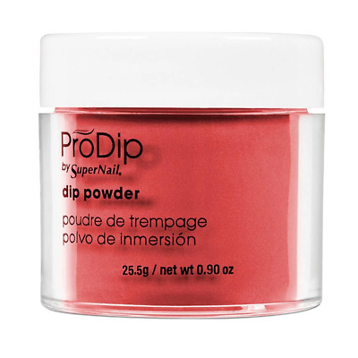 ProDip by SuperNail Acrylic Nail Dipping Coloured Dip Powder - Alluring Red (25g