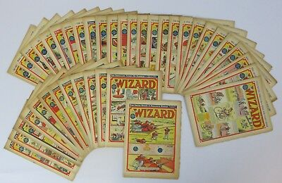 The Wizard Comic No 1286 to 1298 1950 & No 1403 to 1428 1953 39 Issues