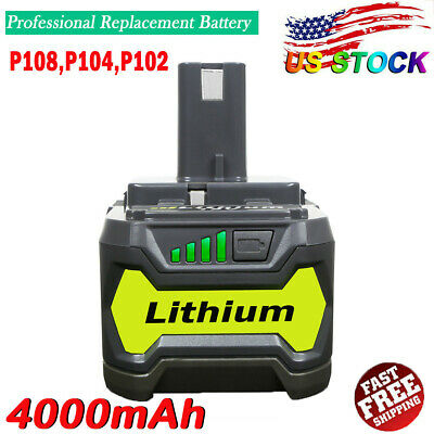 4.0Ah 18V P108 for RYOBI P104 18V ONE PLUS Lithium P102 P105 P103 P107 Battery
