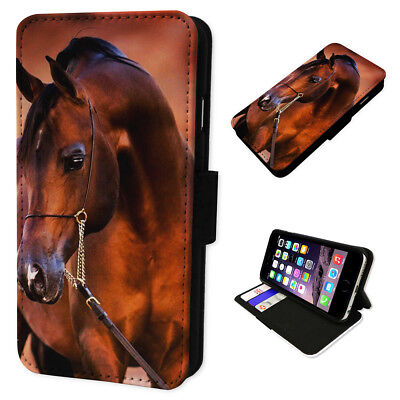 Beautiful Equestrian Horse Flip Wallet Phone Cover Mobile Smart Case Card Holder