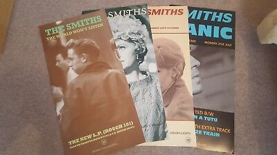 "The Smiths 4 x 12"" X 24"" Original Promo Posters. Panic, ISSICF,Ask & WWL"