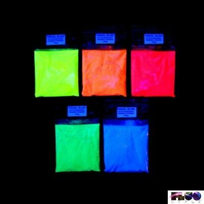 Fluorescent phosphorescent powder pigment lights in the dark 5 fluorescent...