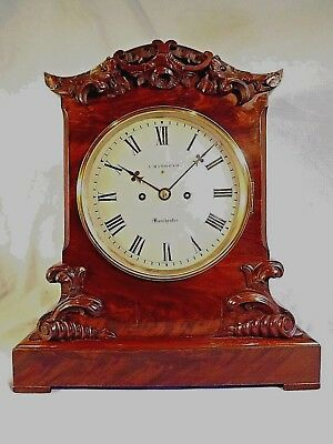 Mahogany Twin Fusee Bracket Clock C1840.
