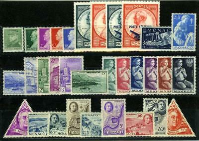 1946 MONACO ANNEE COMPLETE TIMBRES POSTE  +  PA xx