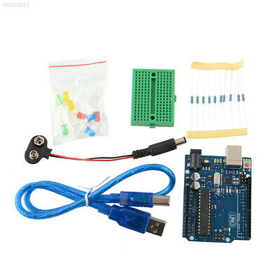 4ACB Electronics Starter Kit Microcontroller Atmega328P Cable For Arduino UNO R3