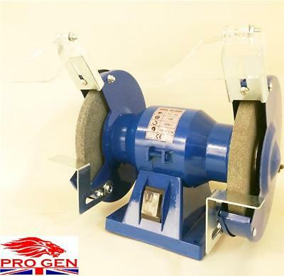 New Electric Bench Grinder 150W Twin 150Mm Grinding Stones Workshop