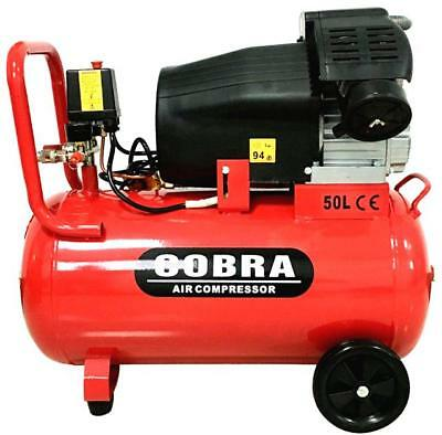 Heavy Duty Air Compressor 50L Litre V TWIN 116PSI 3HP 15CFM 8Bar 230V/50Hz
