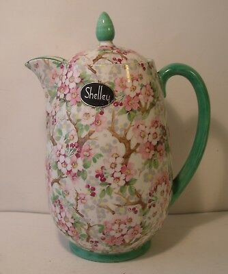 Rare Shelley Maytime Chintz Hot Water Lidded Jug