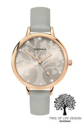 Sekonda Editions Tree of Life Grey Dial Grey Strap Watch 2649 RRP £29.99