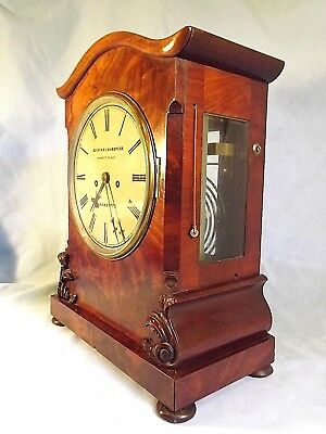 Mahogany Double Fusee Pull Repeat Bracket Clock c1850.