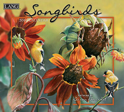 NEW Songbirds Susan Bourdet 2019 Lang Wall Calendar Packed Well Free Postage