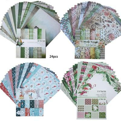 24pcs Album Scrapbooking Paper Card Making Background Pads Pads Craft Gift Set