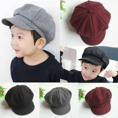 Retro Fashion Baby Kids Child Beret Cap Boy&Girl Infant Toddler Peaked Flat Hat