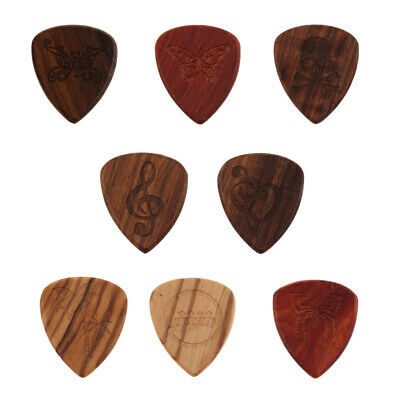 Wood Guitar Pick Heart-shaped Handmade Acoustic Guitar Plectrum