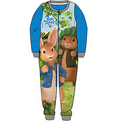Boys all-in-one, sleepsuit, pyjamas, character, pjs 18mths -5yrs - PETER RABBIT