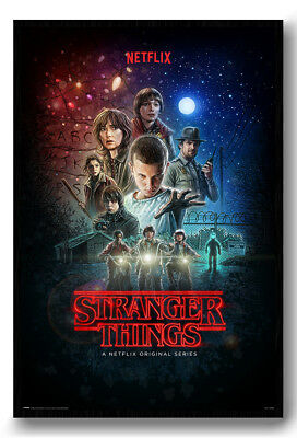 Stranger Things Netflix One Sheet Poster Magnetic Notice Board Inc Magnets