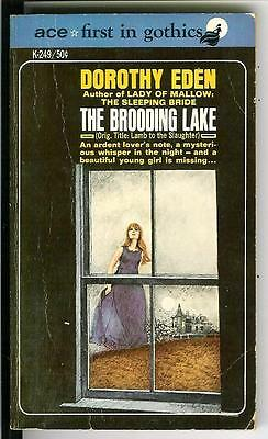 THE BROODING LAKE by D Eden, rare US Gothic romance suspense gga pulp vintage pb