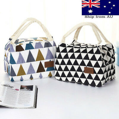 Women Portable Lunch Bag Insulated Thermal Cooler Box Carry Tote Travel Bag AU