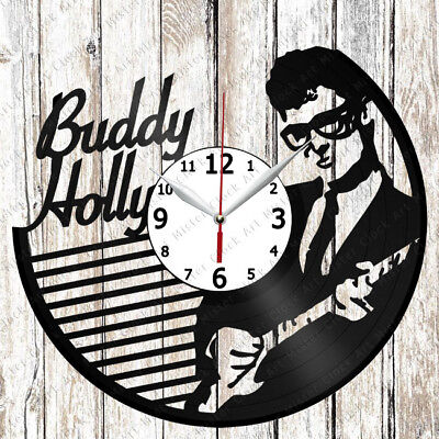 Buddy Holly Vinyl Wall Clock Made of Vinyl Record Original gift 2222