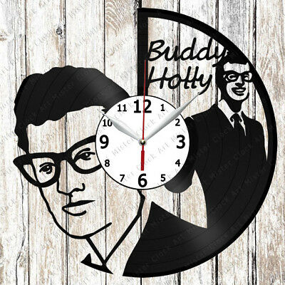 Buddy Holly Vinyl Wall Clock Made of Vinyl Record Original gift 2221