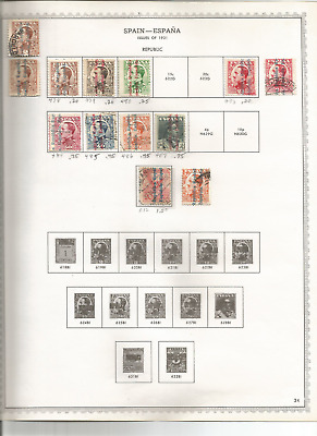A Batch Of Early Spain Stamps Rare And Hv Ones On Pages