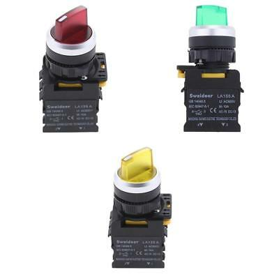 3x Waterproof 22mm Rotary Select Selector Switch 600V 1NO 1NC DPST
